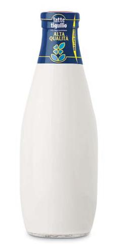La bottiglia in vetro celebrativa dei 60 anni della Latte Tigullio